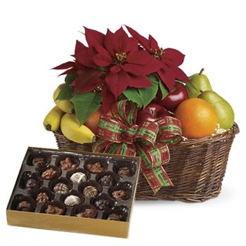 Fruity Poinsettia and Chocolates