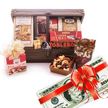 Gift-o-Cash Gift and Gourmet Basket