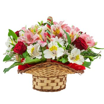 Lovely Flower Basket - Flower-Baskets on www.flowerstoukraine.com